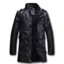 font b Mens b font PU font b Leather b font Fleece font b Jackets