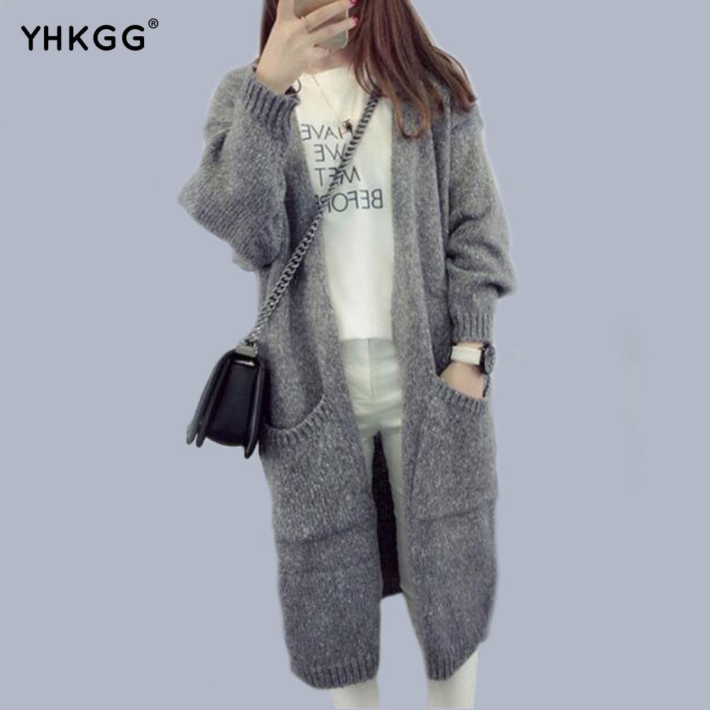2016 YHKGG Autumn and Winter Women Loose Knit Cardigan Jacket ...