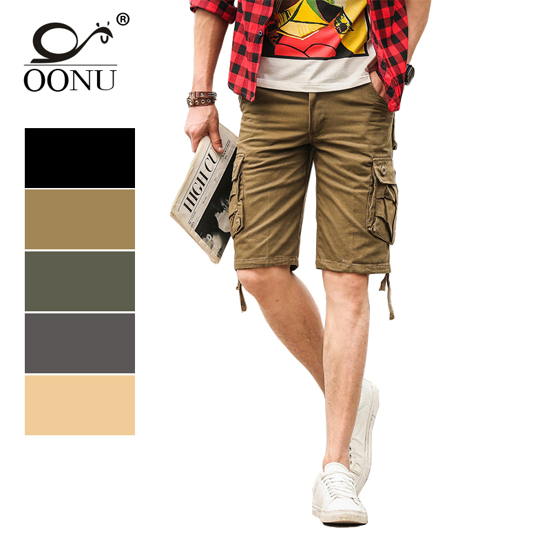 OONU Brand 2017 Summer Men's Army Cargo Work Casual Bermuda Shorts Men Fashion Joggers Overall military Camouflage Trousers