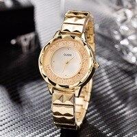 高級腕時計女性2018クォーツ腕時計ファッショナブルな女性のブレスレット腕時計ドレス時計レロジオfemininoゴールド時計 -