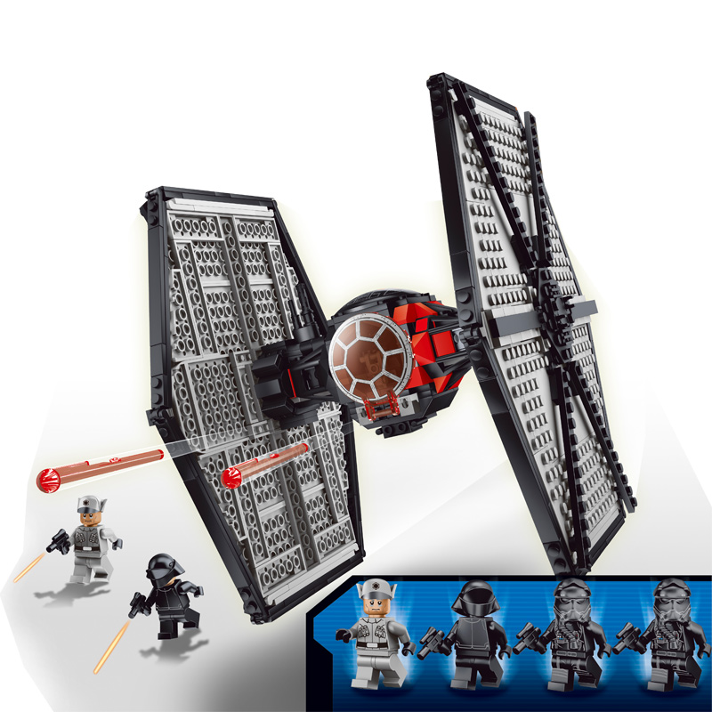 Star Wars Force Awakens TIE Fighter Millennium Falcon X-Wing Riek Collection Compatible with Legoe zw 354pcs star wars series the force awakens tie advanced prototype minifigure fighter building blocks toy compatible with legoe