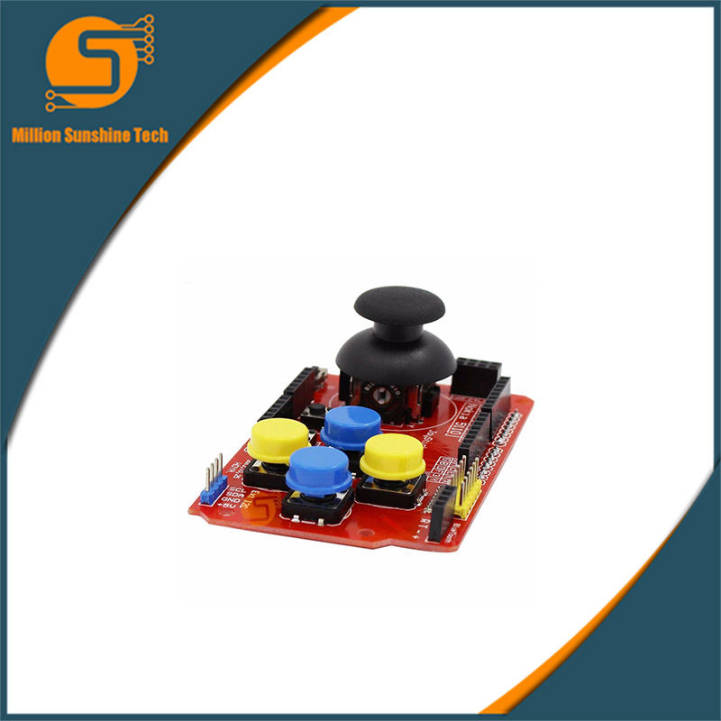 Joystick Shield for Arduino Expansion Board Analog Keyboard and Mouse Function JoyStick Keypad Shield