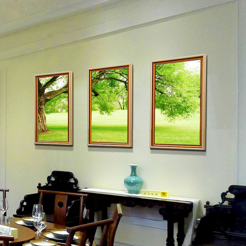home office artwork. 3 Piece NO Framed Canvas Photo Prints Thick Green Trees Home Office Artwork  Giclee Paintings Decor Wall Art Painting-in Painting \u0026 Calligraphy Home Office Artwork V