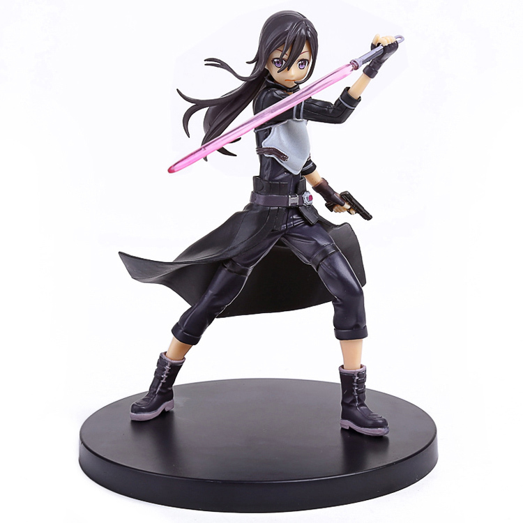 17cm Sword Art Online II Figure Toys SAO 16 Year Old Kirigaya Kazuto Kirito GGO PVC Action Collection Toy Model Gift