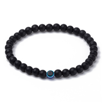 Natural Stone Bracelets Black Onyx Beads Bracelet Men Evil Eye Elastic Bracelets for Women Men Fashion Jewelry 2019 Bileklik bohemian natural stone gravel bracelets for women 2019 new elastic bracelets jewelry tiger eye opal redstone nuggets bracelets