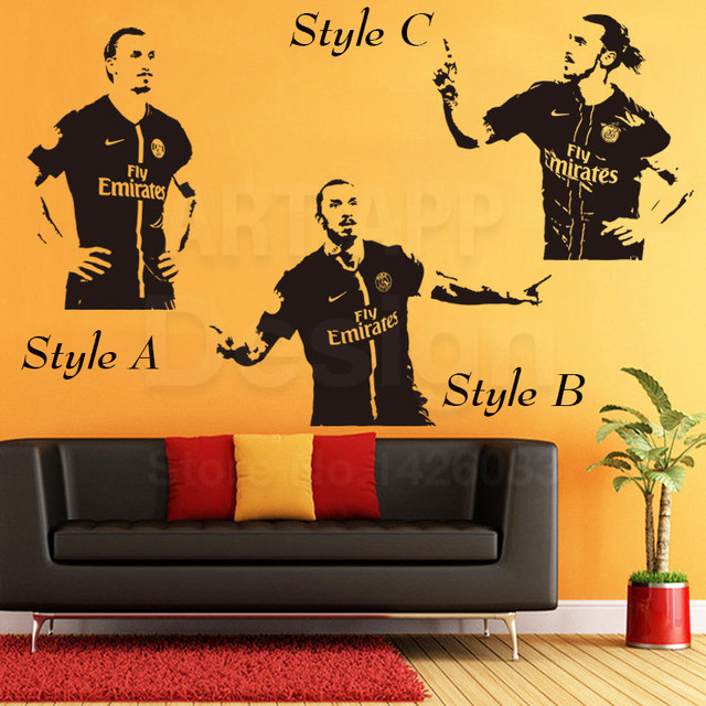 aliexpress : buy art new design home decor vinyl football zlatan