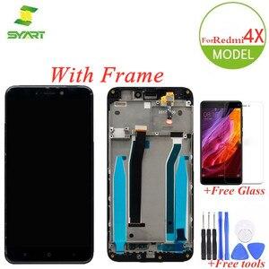 Качество AAA LCD + рамка для Xiaomi Redmi 4X LCDs дисплей кодирующий преобразователь сенсорного экрана в сборе Замена + 2 подарка для Redmi4x LCDs