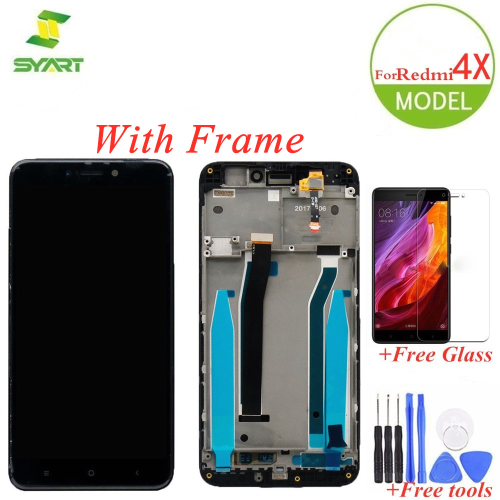 AAA Quality LCD + <font><b>Frame</b></font> For <font><b>Xiaomi</b></font> <font><b>Redmi</b></font> <font><b>4X</b></font> LCDs <font><b>Display</b></font> Touch Screen Digitizer Assembly Replacement + 2 Gifts For Redmi4x LCDs image