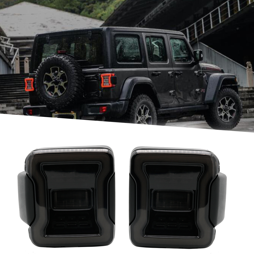 New LED Tail Lights Wrangler JL Brake Reverse Lamp Back Up Rear Parking Stop Light Daytime
