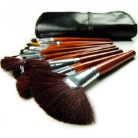 Hot Sale Hername 24pcs Professional Makeup Brush Set Kit Highly Recommended With Black Leather Case Powder