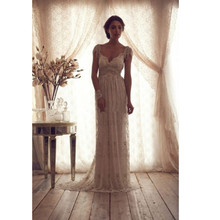 High Quality 2016 Vintage Beads Wedding Dresses Sheer Straps Lace Sexy Bridal Gowns Backless Church Wedding Gown 2016 Customized