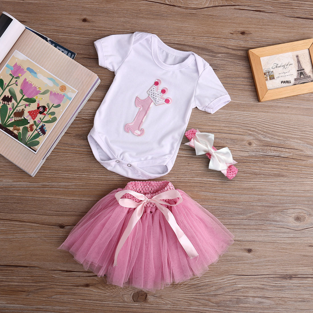 4989b8095cd9 Baby Girl 1st Birthday Tutu Outfits