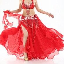 0d31a85d01a978 Hot-verkoop Professionele Buikdans Rok 13 Kleuren Sexy Lange Flamenco Rok  Side Split voor Vrouwen