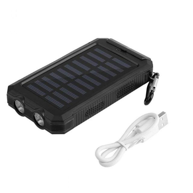 30000mah Solar Power Bank External Battery Bank Fast Charge Dual USB Powerbank Portable Universal Mobile Phone Charger 3