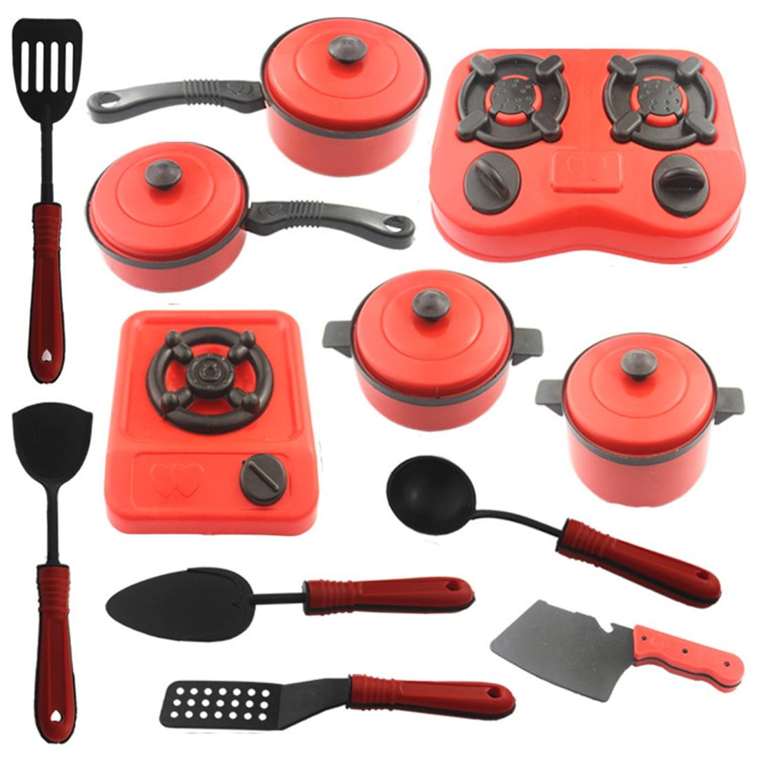 Surwish 12Pcs Kids House Kitchen Toy Cooking Cookware Children ...