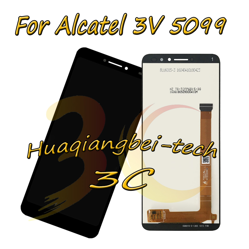 6.0 New Black For Alcatel 3V 5099 5099Y 5099A 5099D Full LCD DIsplay + Touch Screen Digitizer Assembly 100% Tested6.0 New Black For Alcatel 3V 5099 5099Y 5099A 5099D Full LCD DIsplay + Touch Screen Digitizer Assembly 100% Tested