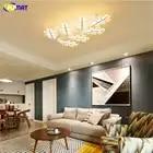 FUMAT plafond moderne à LEDs lumière acrylique arbre de noël bois lampe à LED double usage lumière pour salon chambre LED plafonnier