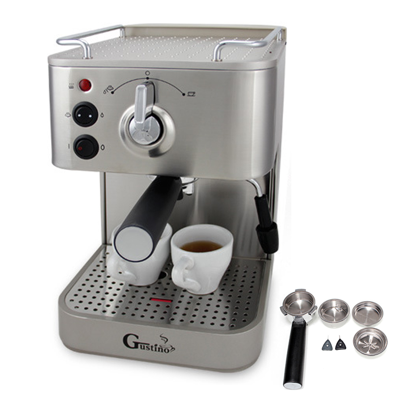 J00 Semi-automatic Italian 19 bar Cappuccino espresso coffee maker home Coffee making machine bonpoint кожаные пинетки серые