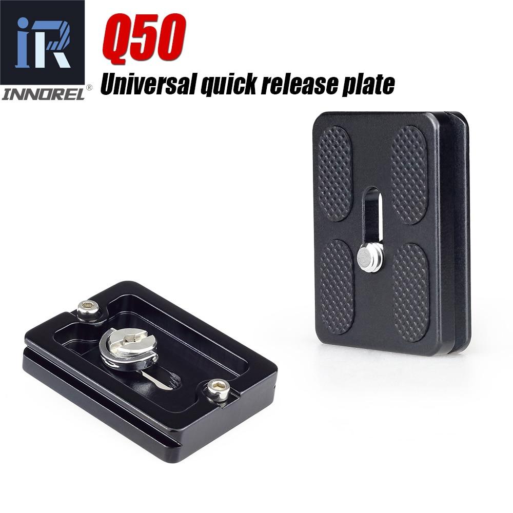 Q50 Universal quick release plate Pour panoramique trépied rotule Compatible avec Arca Swiss spec. QR DSLR Caméra Accessoires