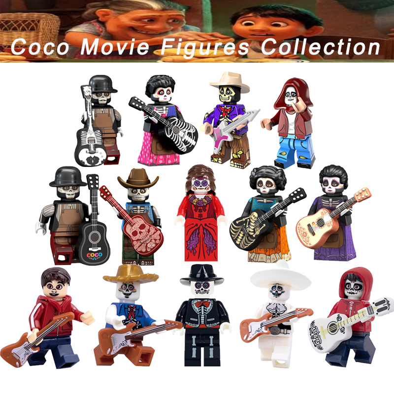 The Day Of The Dead Legoelys Coco Movie Victoria Quirinas Chino Alpacino Action Figures Building Blocks Gift Toys Kids