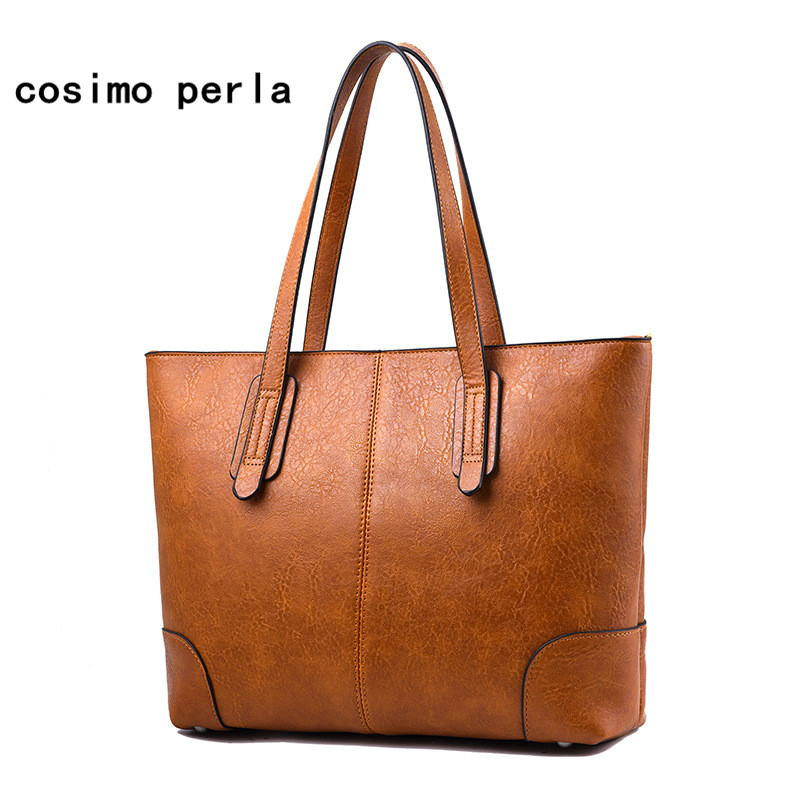 Luxury Designer Fashion Tote Handbags 2019 Women Leather Shoulder Bag for Girls Large Capacity Work Shopping Purses Dropshipping tote bags for work