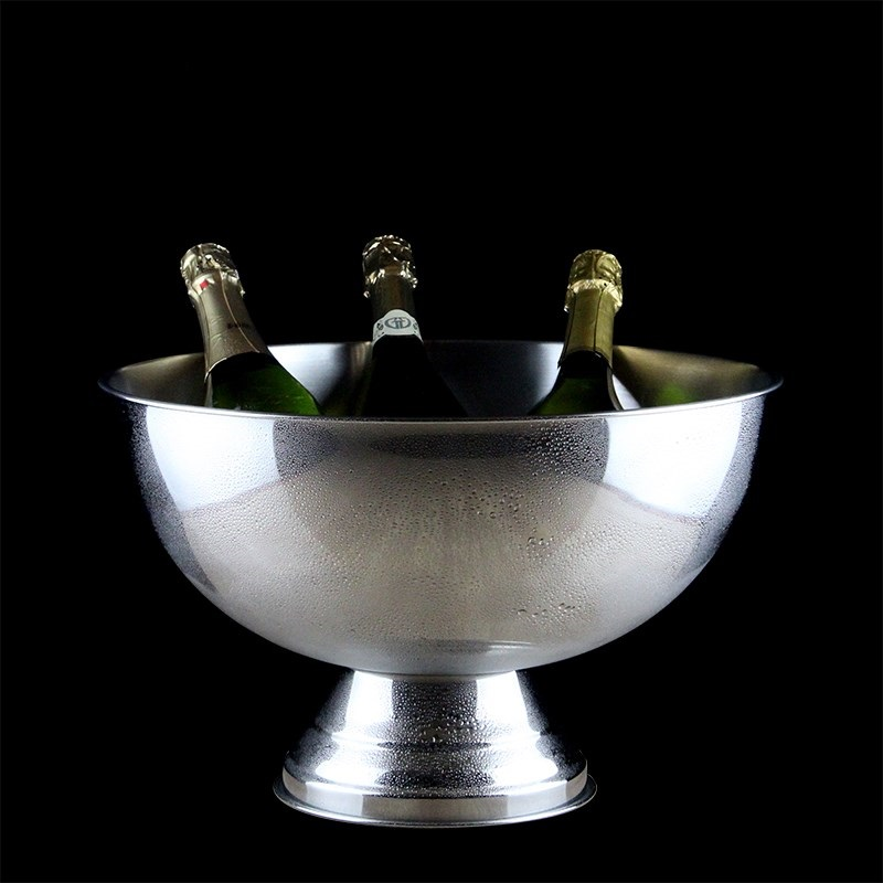 304 Stainless Steel Ice Bucket Decorative Metal Wine Cooler Party Barware Champagne Serving Drinkware Supplies Bar