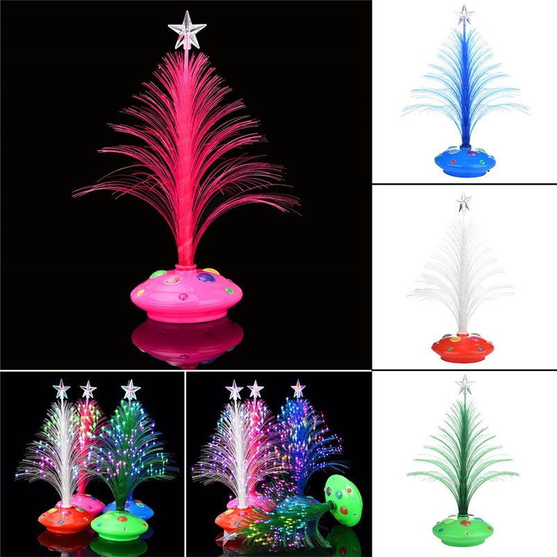 New LED Colorful Changing Mini Christmas Tree Decoration Table Party Charm Desk Decorations Gift for Home decor #4o26#f (14)
