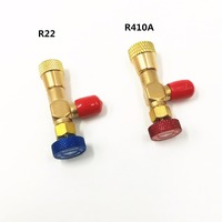 2 pcs além de segurança líquido válvula R410A R22 ar condicionado refrigerante 1/4