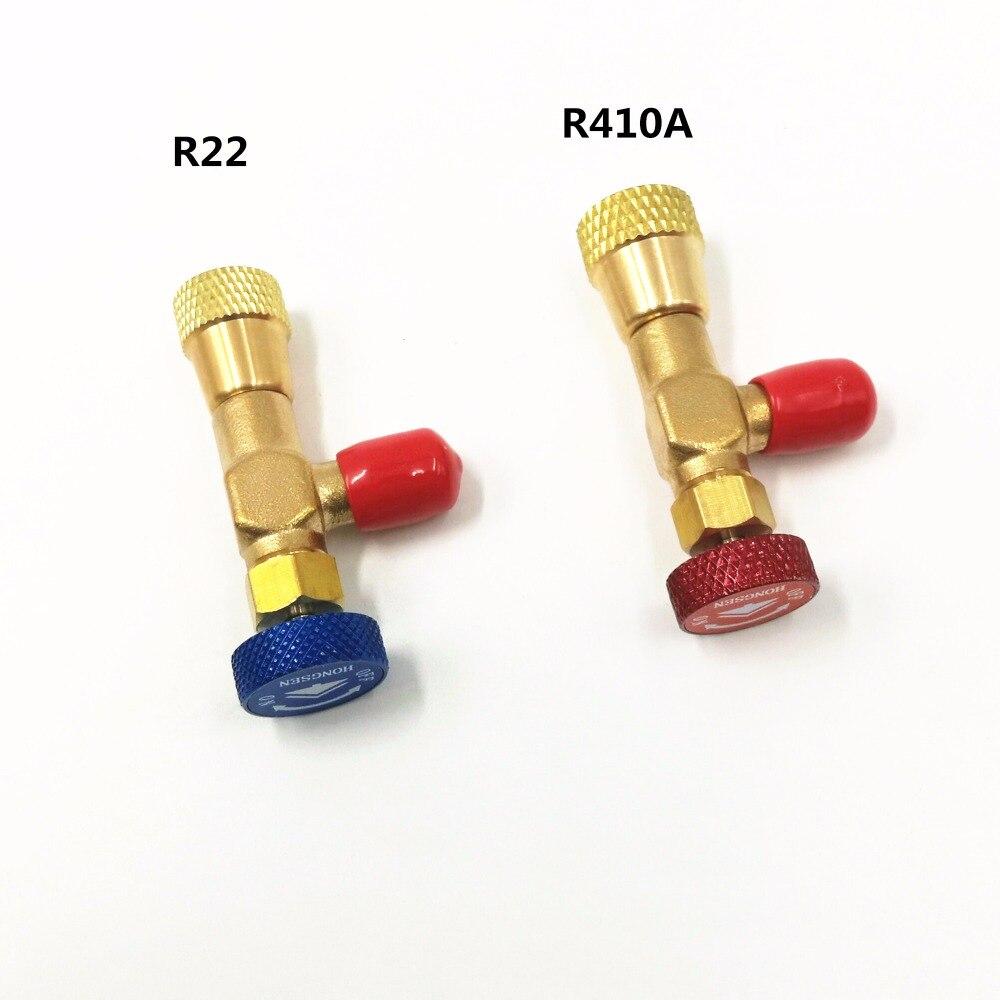 2 stücke plus flüssigkeit sicherheit ventil R410A R22 klimaanlage kältemittel 1/4