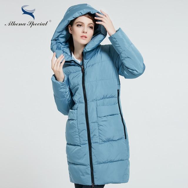 Athena Special 2017 Модный пуховик женский Теплая Женская Куртка с Капюшоном зимнее пальто для женщин Длинная Теплая Женская Парка большого размера 5XL 6XL Зимняя Одежда Высокого Качества