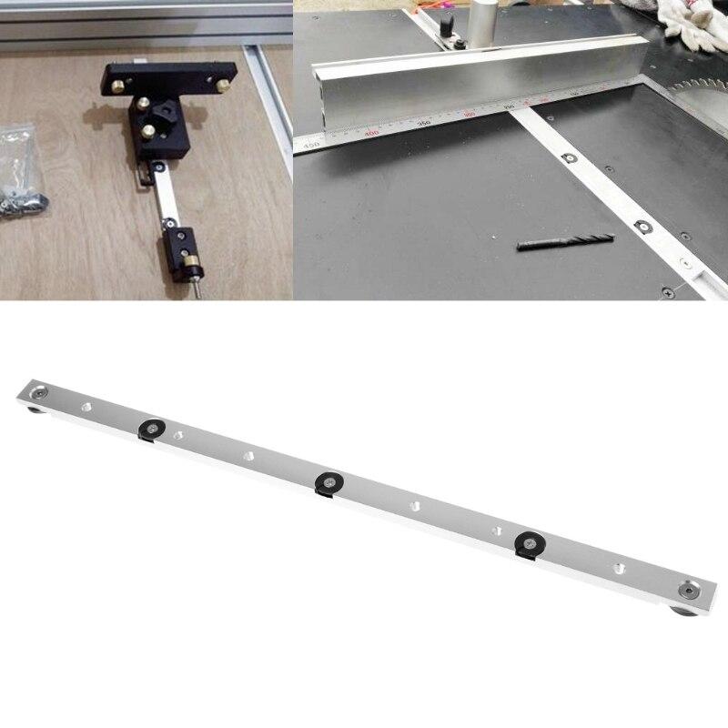 450mm Aluminium Alloy Rail Miter Bar Slider Table Saw Gauge Rod Woodworking Tool 1pcs aluminium miter bar length 450mm miter slider woodworking tools kf925