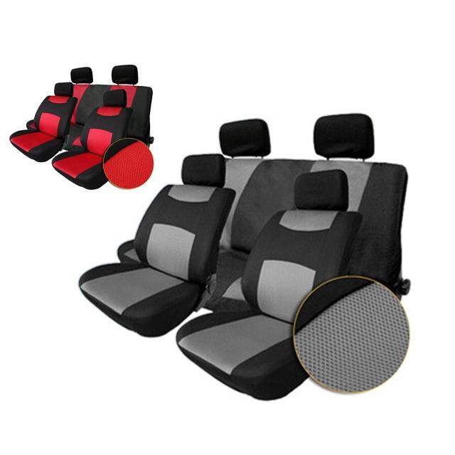 Auto Seat Cover Universal Sandwich Fabrics Car Seat Cover Set Four Seasons Auto Car Cushions Pillows Interior Accessories 10pcs