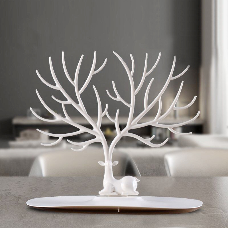 Little Deer Jewelry Accessories Tray Tree Household Storage Racks Display Earring Organizer  Necklace Ring Holder