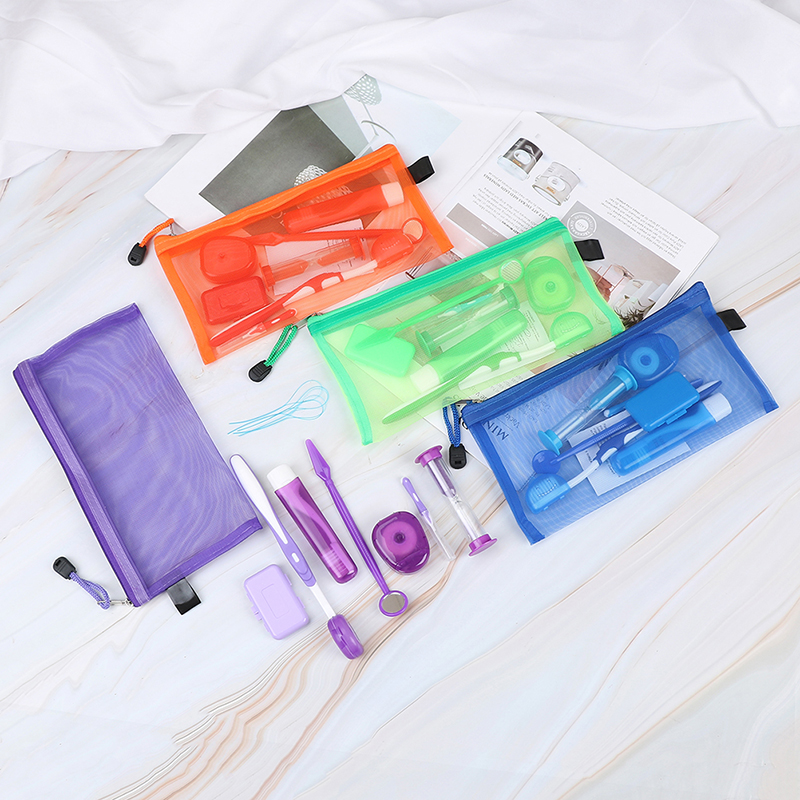 Toothbrush Interdental Brush Dental Orthodontic Braces Brackets Oral Care Suite Cleaning Complete Set image