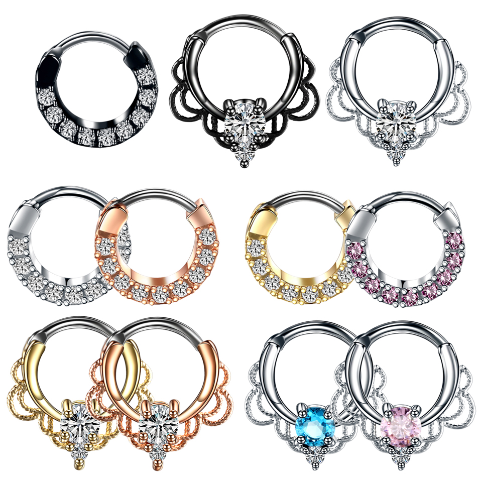 Prosperous-Blooming 20G 8mm Fake Nose Rings Hoop for Lip Studs Septum Nose Ring 1pcs,Light Yellow Gold Color,Silver