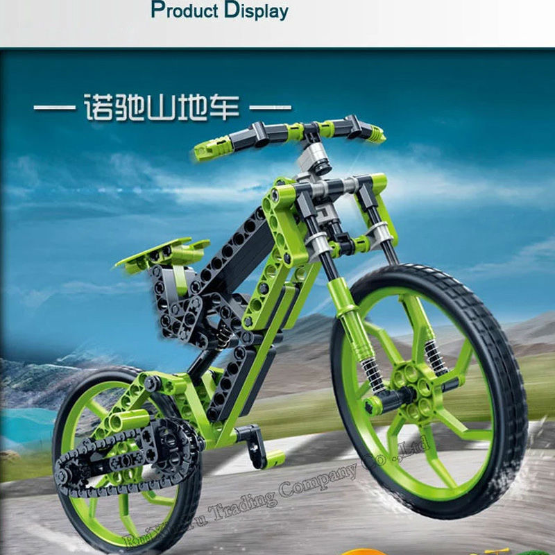 Best Gift Ban Bao165pcs Green Color 3d Diy Plastic Toy Bicycle