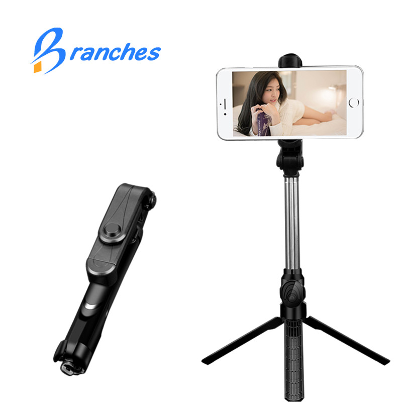 BE80 Mini Bluetooth Selfie Stick+Tripod Monopod pau de stick self bluetooth selfiestick for iphone xiaomi mi Android 7 8 phone