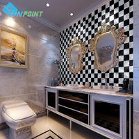 Bathroom Home Wall Decals PVC Vinyl Plastic Waterproof Kitchen Self Adhesive Wall Stickers Home Decor Mosaic