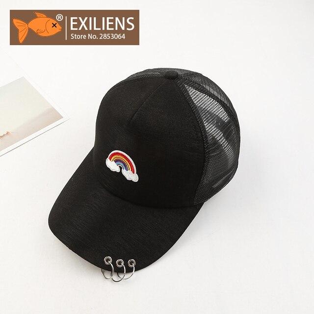bd68049cc19 EXILIENS Baseball Cap Unisex Men Women Stranger Things Brand Cotton Rainbow  Snapback Caps Hip Hop Hats Dad Hat Bone Casquette