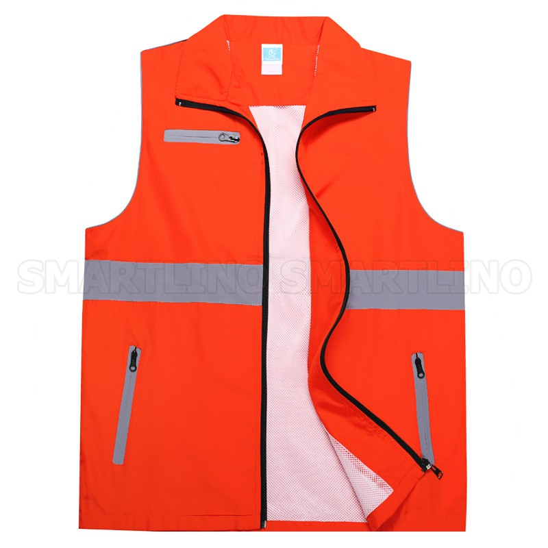 High Visibility Reflective Vest Volunteer Worker Running Reflective Safety Clothing Workplace Road Warning Clothes Coverall