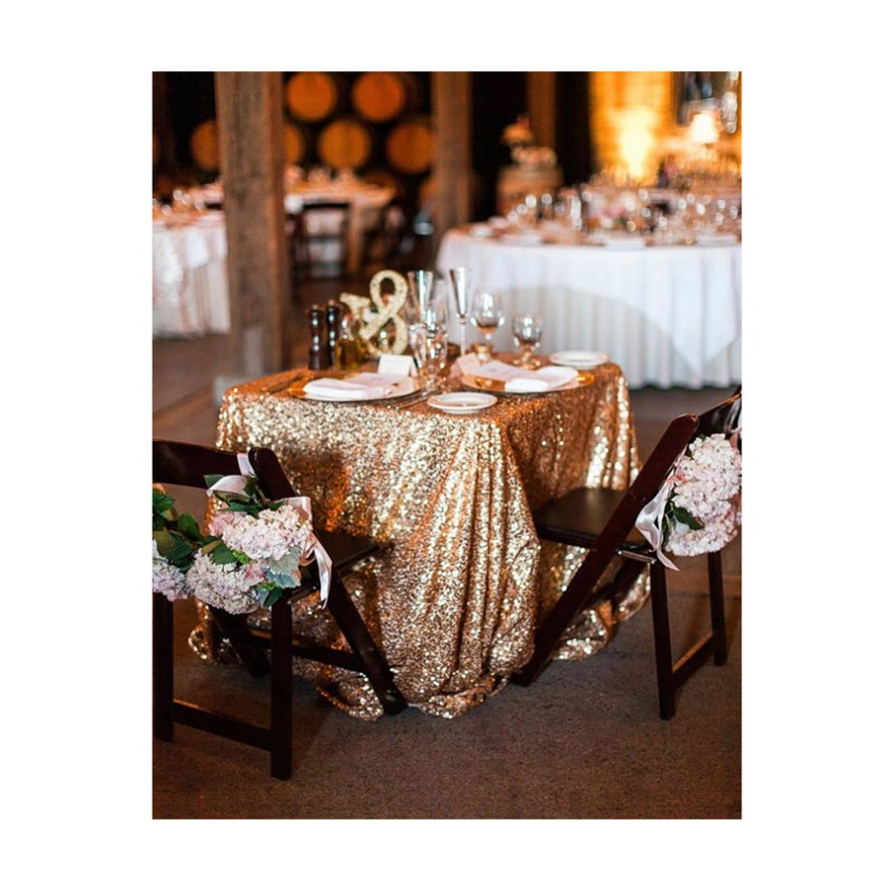 96 inch round tablecloth - Shinybeauty 96inch By 96inch Square Gold Sequin Tablecloth For Wedding Beautiful Table Overlay Christmas Decoration