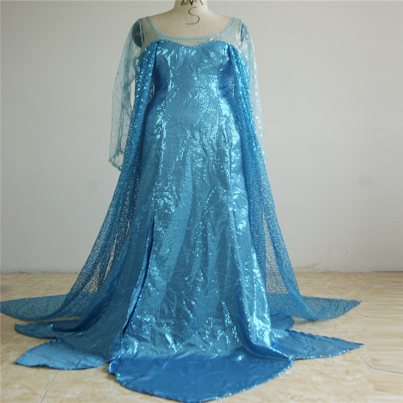 Hot Selling Princess Costumes Anime Cosplay Halloween Costumes Girls Blue Fancy Dresses For Children Kids W846130 ...