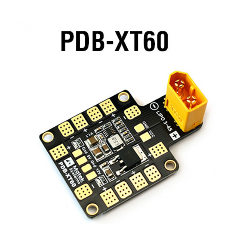 Matek Systems PDB Power Distribution Board XT60 W/ BEC 5V & 12V 2oz Copper For RC Helicopter FPV Quadcopter Muliticopter Drone