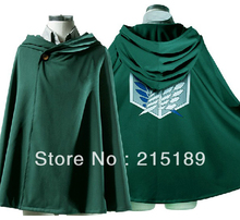 TITAN costume green cloak cape  CARTOON cool Shingeki no Kyojin/Attack on Titan Eren Jaeger Anime cosplay 4 Size