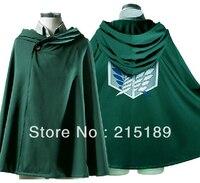TITAN Costume Green Cloak Cape CARTOON Cool Shingeki No Kyojin Attack On Titan Eren Jaeger Anime