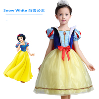 girl princess costumes kids clothes dress party clothing Princess Snow White Party Tutu Dresses kids formal dress with cloak