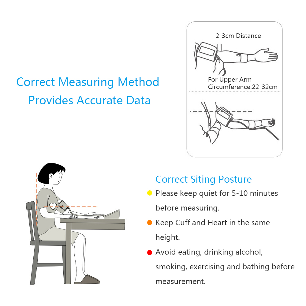 medium resolution of bsx555 upper arm blood pressure monitoring cuff portable automatic digital lcd device heart beat rate pulse display 2 user mode in blood pressure from