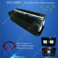 Converter 12v 24v dc to 100v 110v 120v 220v ac pure sine wave 3500w 3.5kw solar and wind home system inverter