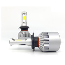 H7 LED H4 CAR light headlight lamp H11 H3 H1 High Power H27 9005 9006 880 881 long life universal led play and plug 6000K 2 PCS(China)