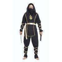 Cadılar bayramı Yetişkin Erkek Siyah Hokkaido Ninja Savaşçı Kostüm Suit Üniforma Fantezi Kıyafet Cosplay Kostümler için